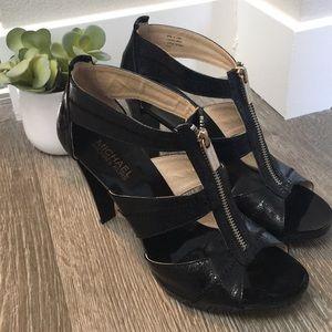 Michael Kors Patent Leather ZIP Heels EUC